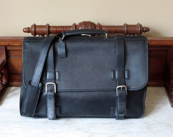 Spring Sale Coach Madison Briefcase In Black Leather Style No 5325- VGC