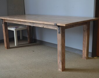 Rustic Weathered Dining Table