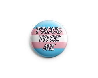 "Transgender pride button, magnet, 1.25"" pinback buttons, pins, badges, stocking stuffers, LGBT, pride, trans buttons, transgender pins"