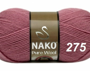 SALE! PURE WOOL Nako, natural wool, 100 gr. - 220 m. knitting crochet Soft yarn , Wool Yarn