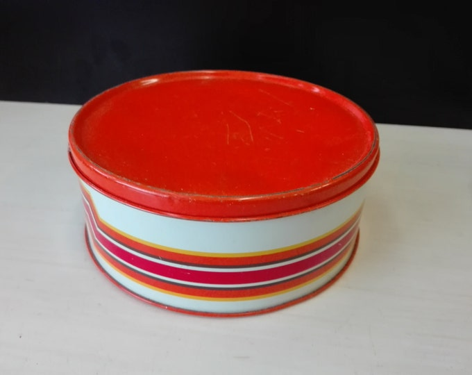 Impala cookie tin, orange