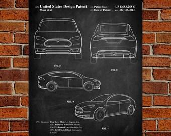 Tesla model s poster etsy tesla model s art print patent tesla model s vintage art blueprint malvernweather Gallery