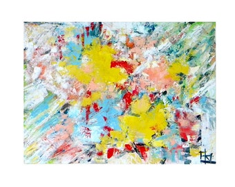 "Original abstract oil painting ""Graffiti"""