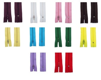 10 Different Color Nylon Close-End No.3 Zippers 8 Inch Tailor Sewing Craft Tools Garment Accessories(CTJZ21ZIPPER-10R1)