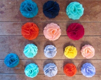 Flower Hair Clips | Solid Colors