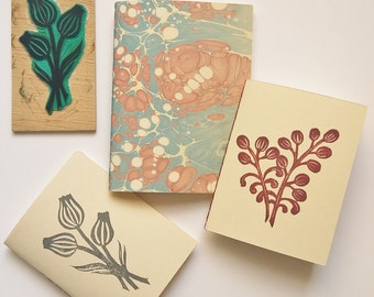 1 2 3 notebooks-marbled cover with illustrated cover +