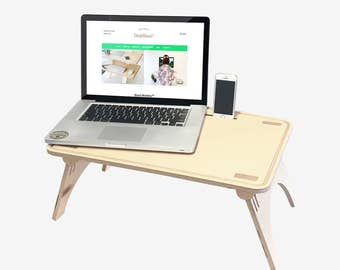 Standing Desk, Wavy Sit-Stand Table / DeskStand™, bed desk, lap table, lap tray, laptop holder
