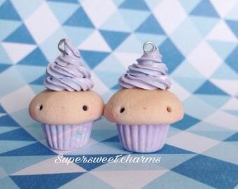 Polymer Clay Purple Cupcake / Cupcakes