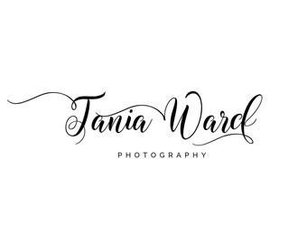 Photography Logo, Digital, Premade, Customizable, Photographers, Small Business, Boutiques, Calligraphy Logo, Modern Logo - TB-04