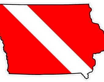 Iowa State (B16) Diver Down Flag Yeti Tumbler Decal Sticker Laptop