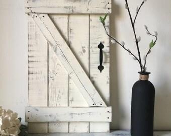 MINI BARN DOOR Wall Hanging, Wood Shutters, Barn door decor, Farmhouse Chic, Modern Farmhouse Decor, Mini Barn Door, Farm Barn Door