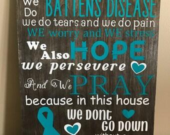 Batten's Disease Sign