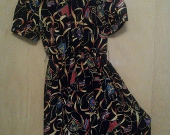 Clearance was 40 now 29.80s Abstract Pleated Dress by Winning Ticket