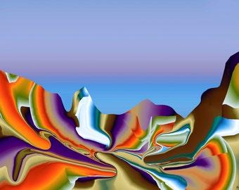 Brandy Davenport's Kaleidoscopic Glacier Valley