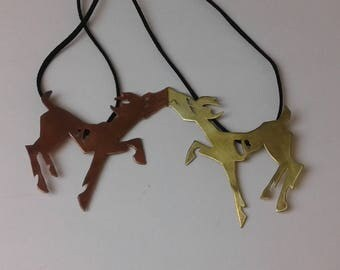 copper and brass zombie deer set