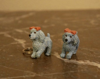 Two Vintage Puppy In My Pocket Toys Poodle Keyring And Figure 1994, Collectible Gift, Retro, Sister, Daughter, Girlfriend, Friend, Birthday
