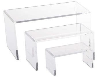 Clear Acrylic Display Risers Set of 3...10x5x2.5