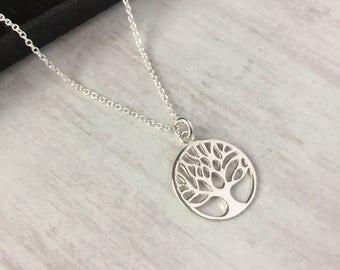 Sterling Silver Tree of Life Necklace/Tree of Life/Tree/Everyday Wear/Family/Pendant/Long & Layered/Gift/UK