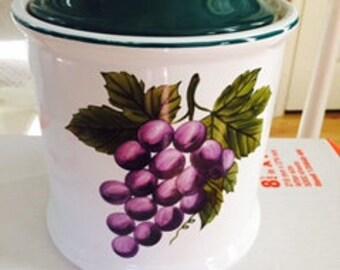 Vineyard Grapevine Cookie Jar