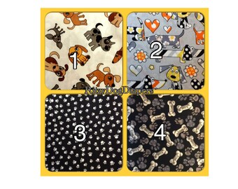 Male Dog Diapers - Custom Sizes-  Dog Diaper - Paw Prints Fabric -  Submissive Urination - Boy Dog Marking Solution