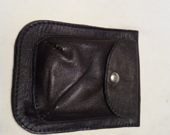 Vintage Black Leather Wallet - NEW
