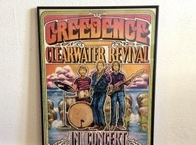 Original 1971 Creedence Clearwater Revival concert poster. Walker-Parkinson Design. Sportpaleis Antwerpen. Framed.