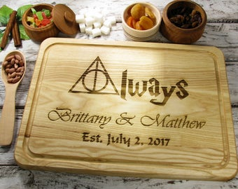 Personalized cutting board always harry potter cutting board for 1st wedding anniversary gifts for men