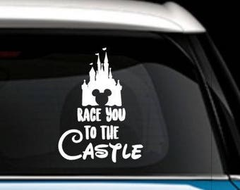 Race you to the castle decal - Race you to the castle car decal