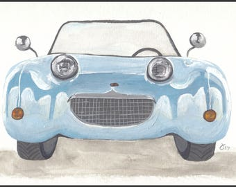 Custom Original Gouache Car Illustration