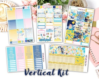 NEW FORMAT || Travel with Me weekly kits planner stickers || Erin Condren planner vertical layout