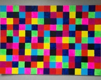 Colour squares painting
