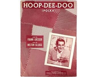 Sheet Music Hoop De Doo Polka 1950 Piano Vocal Perry Como
