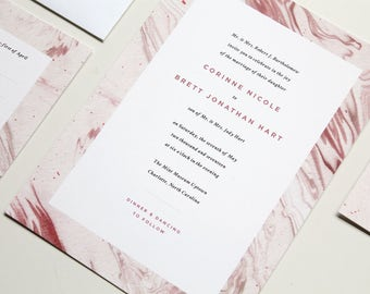 Marble Wedding Invitation | Colored Marble Wedding Invite, Color Marble Invite, Modern Wedding Invitation, Modern Marble, Wedding Invitation
