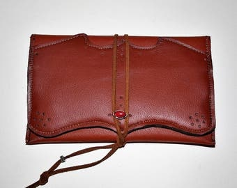 "Tobacco leather bag ""Marrakech"""