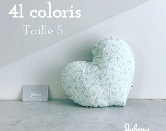 Cushion heart - size S - 41 colours - baby shower gift personalized