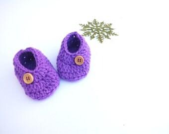 Baby Booties, Crochet Baby Booties, Crochet Baby Boots, Crochet Baby, Crochet Booties, Baby Girl, Purple baby booties,baby shower,madeinUSA