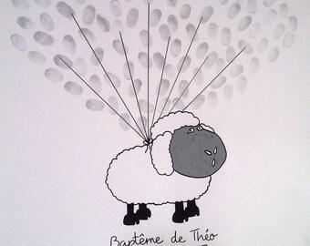 tree prints 'dreamy sheep'