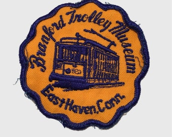 Vintage Connecticut Patch - Branford Trolley Museum, East Haven