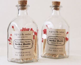Match bottle, apothecary matches