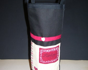 DARLING WINE BAGS - darling wine gift bags - wine gift bags - black & red wine gift bags -