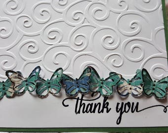 Handmade Butterfly Thank you Card