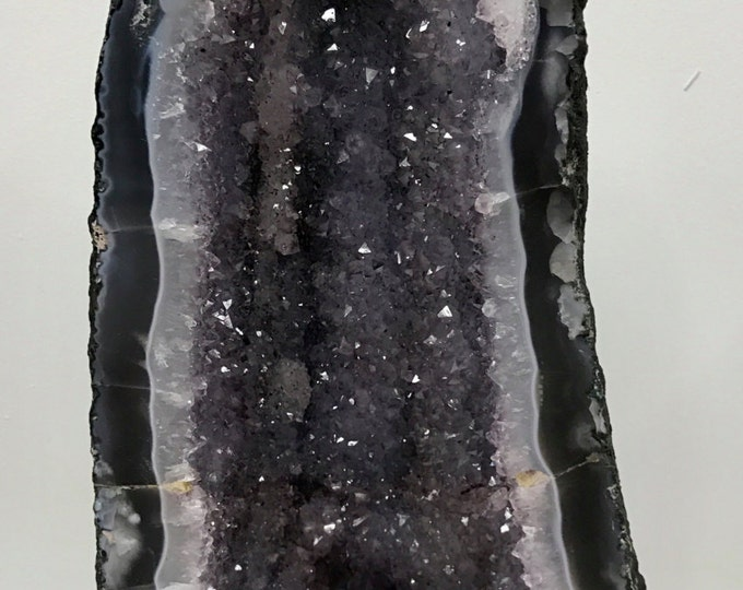 Amethyst Geode Cathedral 15 LBS- 16 Inches tall X 8 Inches Wide- From Brazil Home Decor \ Reiki \ Healing Stones \ Chakra \ Christmas Gift