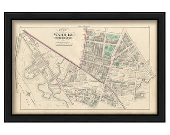 Map of Part of South Boston - 1874 Ward 12 Plate D
