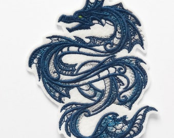 Dragon blue patch embroidered patch