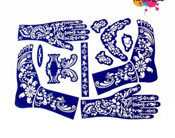 Love Henna stickers tattoo body art Mehndi Stencils