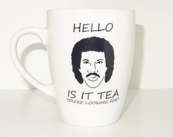 hello is it tea you are looking for Mug, Funny mug, Cool mug, Novelty mug, Porcelain mug, White mug, Coffee, printing mug