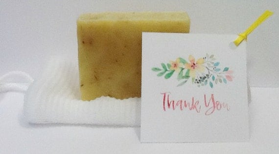 Lemongrass Soap Party Favor with Soap Favor and Favor Tag