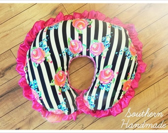 Ruffle Boppy Cover with Zipper