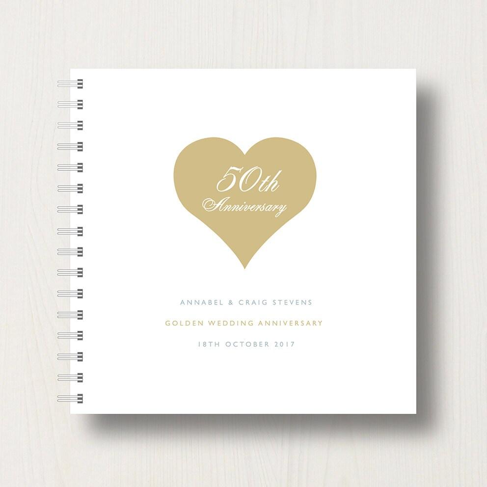 Personalised th golden anniversary memory book or album