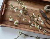 Farmhouse tray, old barn wood handmade tray, vintage, shabby, rustic table centerpiece, dining room decor, serving